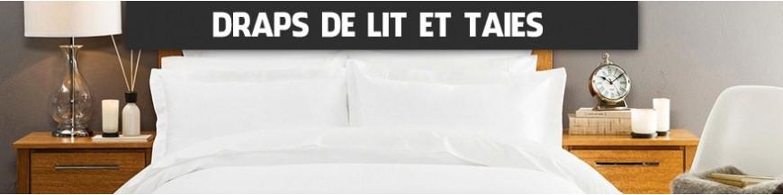 draps de lit prot ge matelas et taie d 39 oreiller equipement h tels chambres d 39 h tes linge. Black Bedroom Furniture Sets. Home Design Ideas